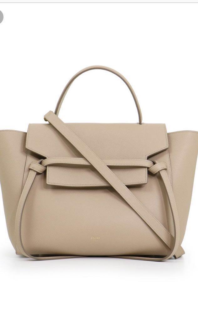 4b35d9f10e Celine Mini Belt Bag (Light Taupe)