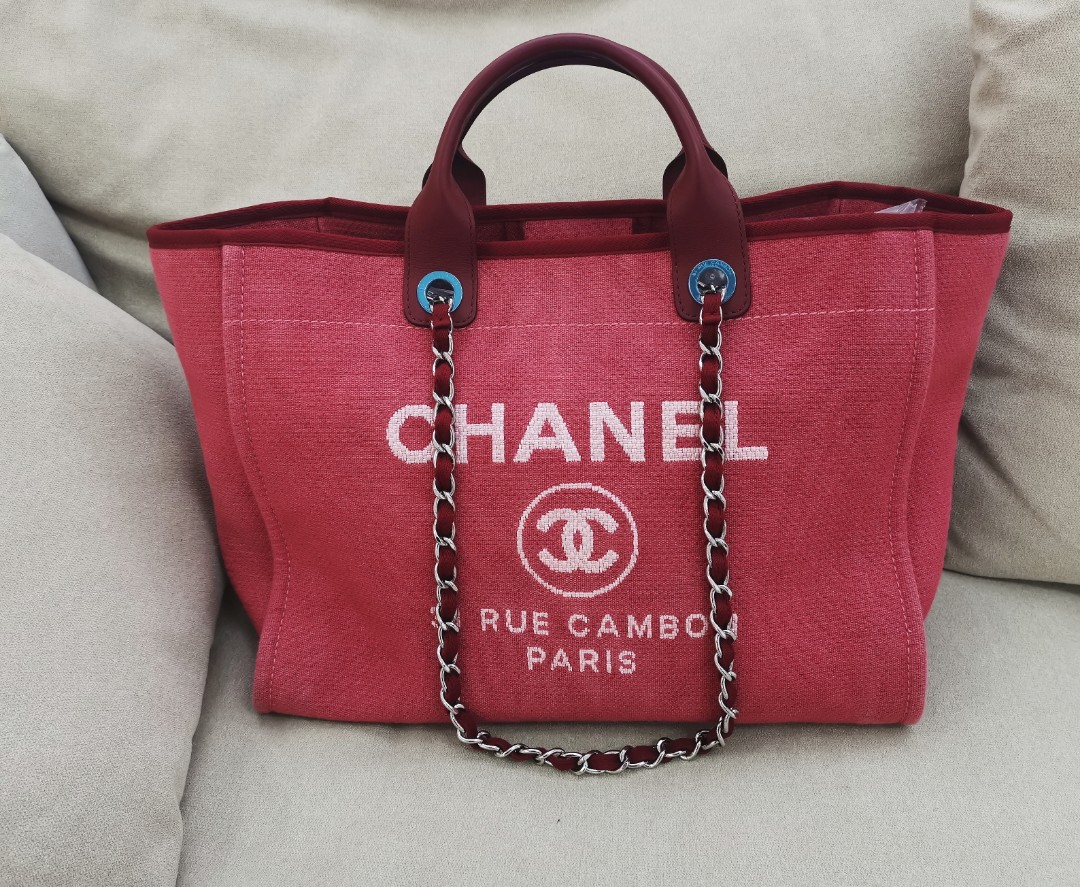 bef2c4f687a *SOLD*Chanel large deauville tote in excellent condition