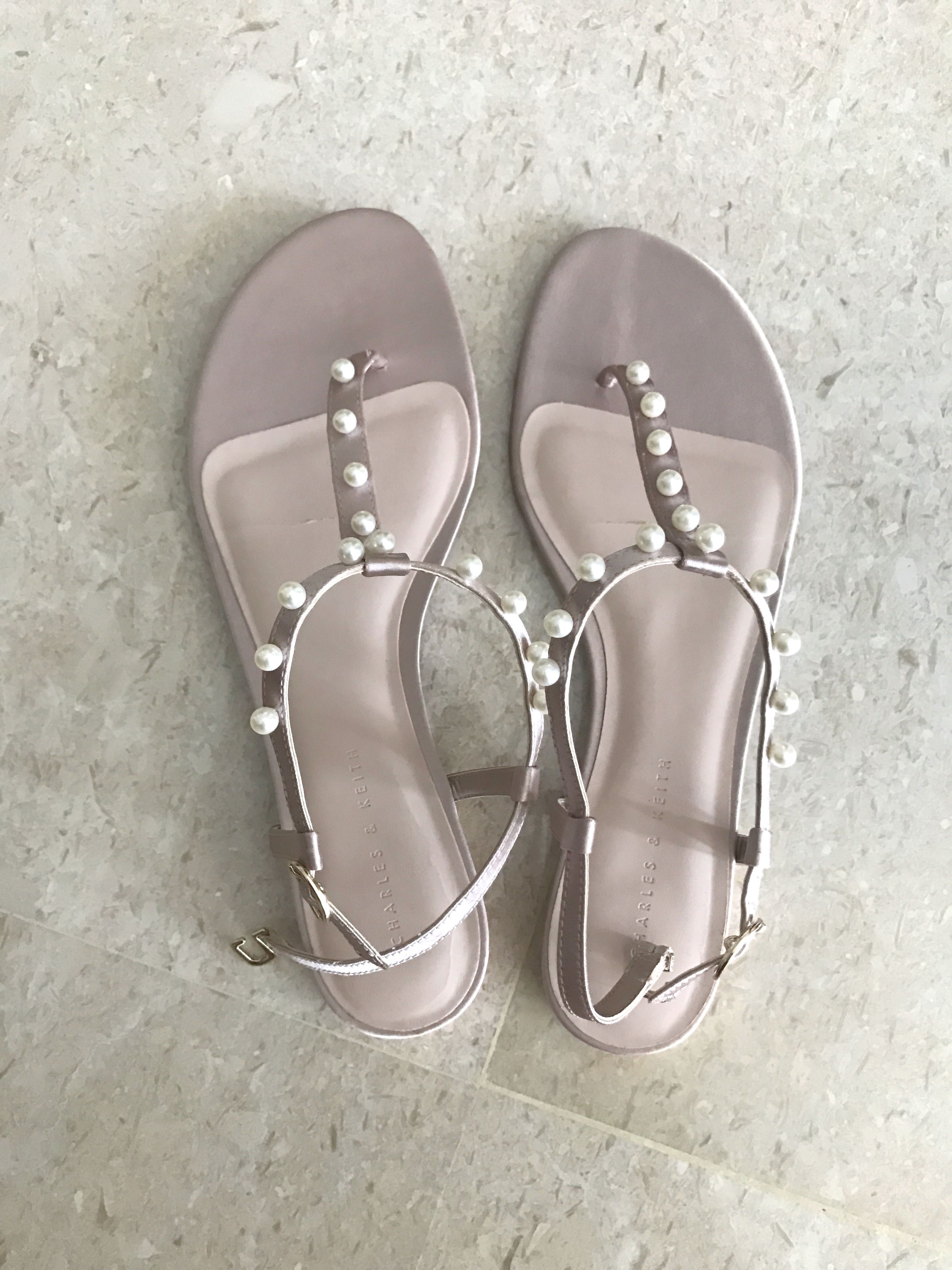 Charles and Keith - Pink Pearl Sandals