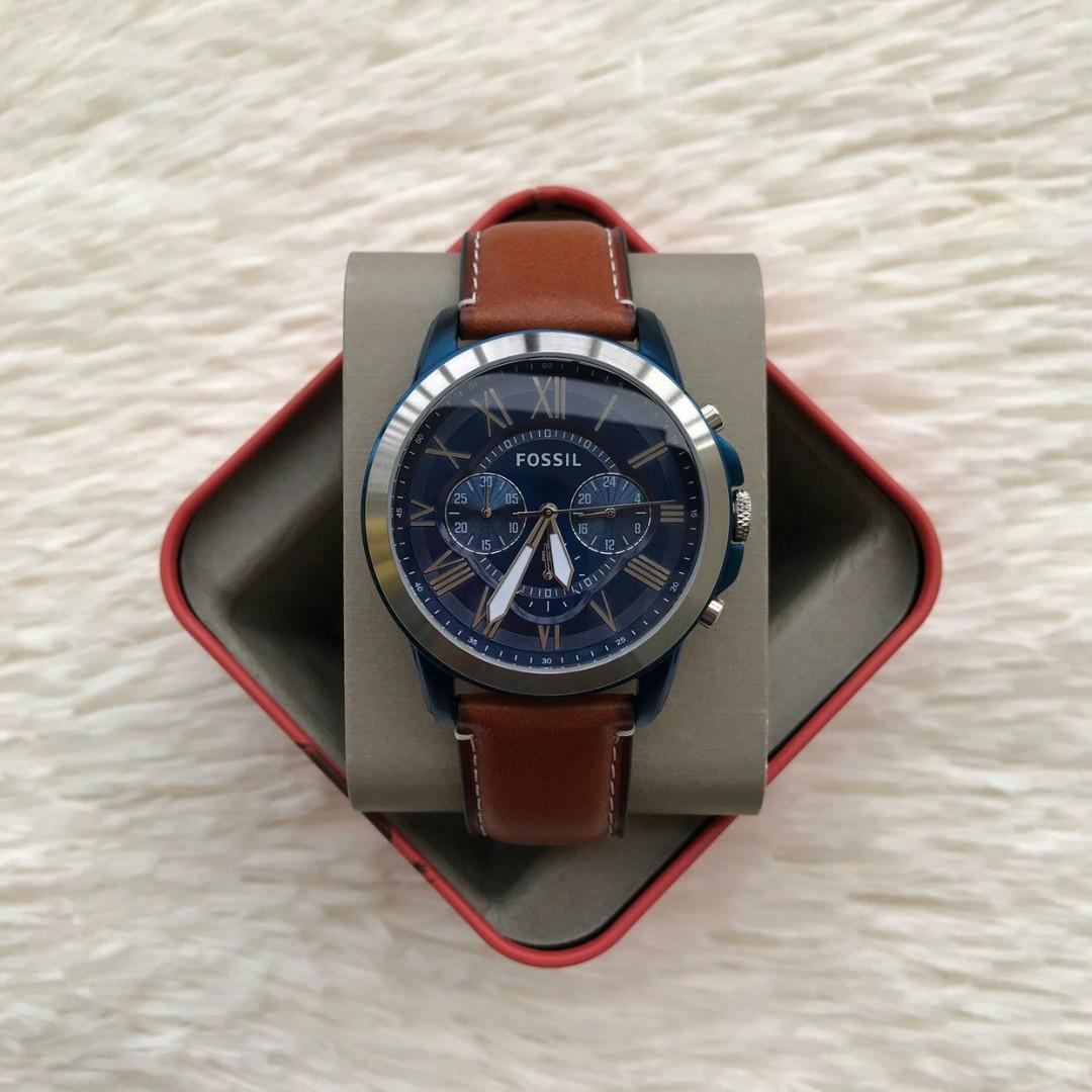 31c6705dfa3b Fossil Grant Chronograph Blue Dial Men s Watch FS5151