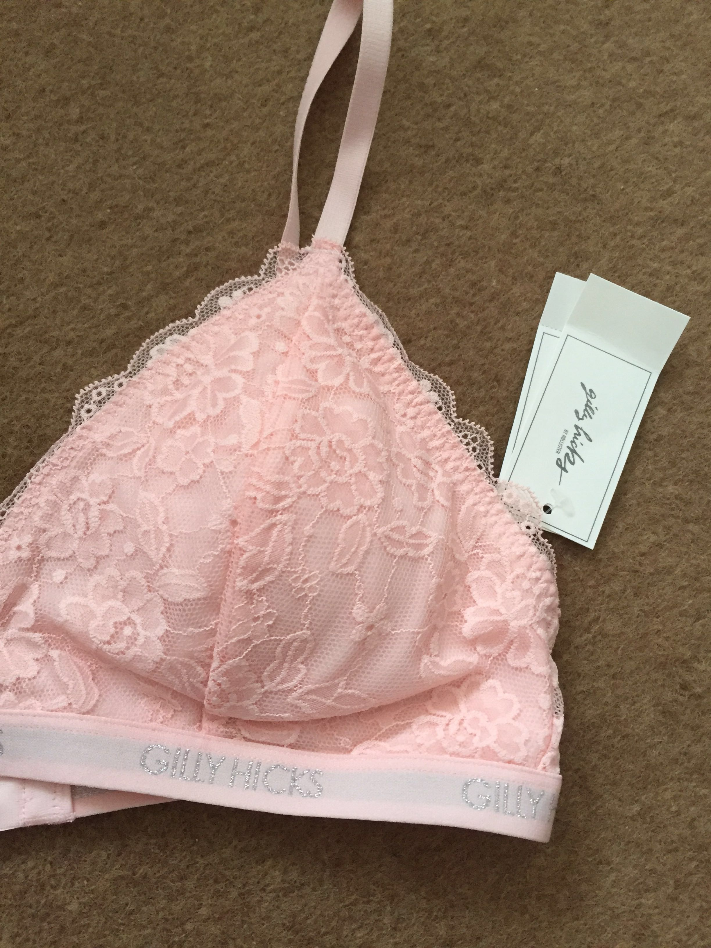 5670bc1870 Gilly Hicks Hollister Pink Lace Bralette