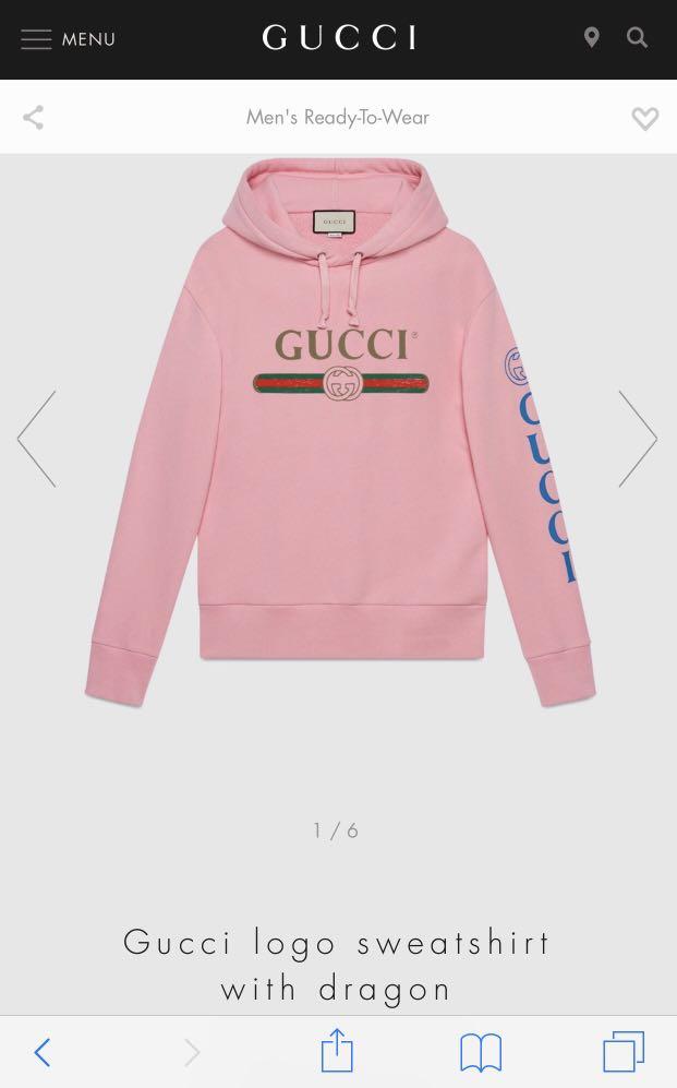 20e0be6921a Gucci Logo Sweatshirt Hoodie with dragon