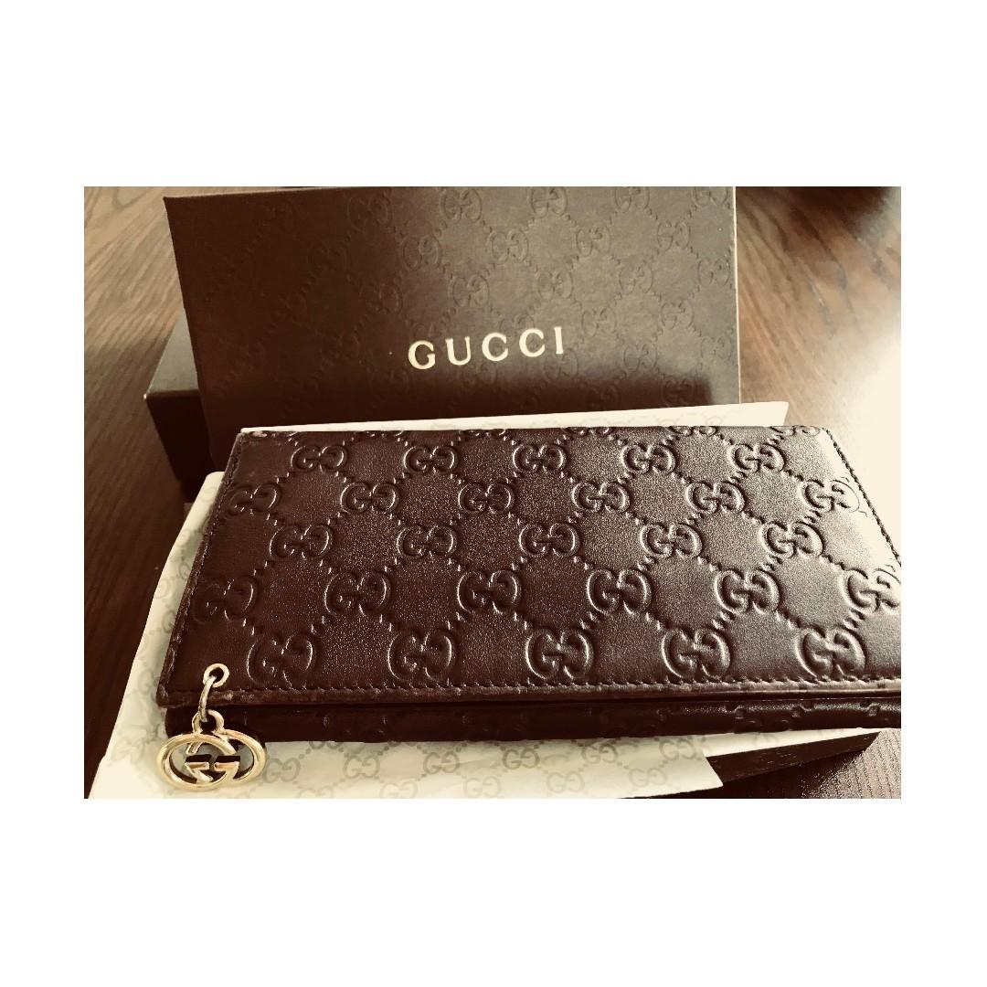 cedf8b464b2 Gucci Pierce Guccissima Wallet