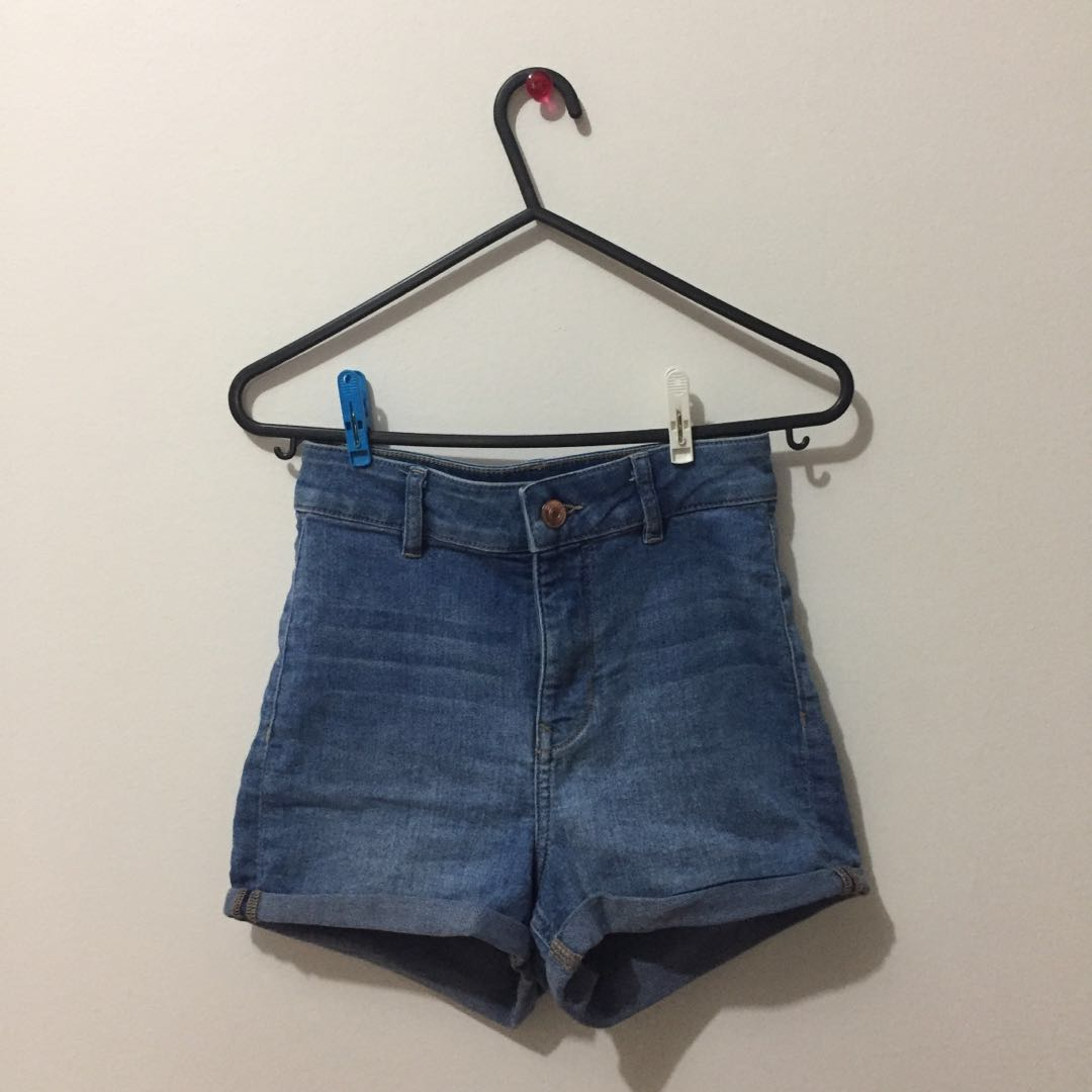 44b8361ad High-Waisted H&M Shorts, Women's Fashion, Clothes, Pants, Jeans ...