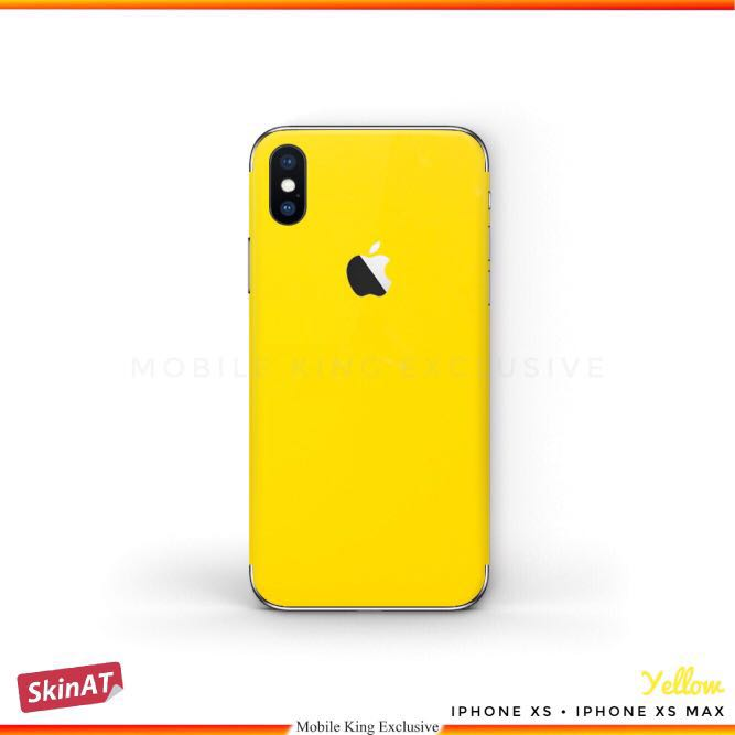 best website 5093f 2eefe iPhone X, iPhone XR, iPhone Xs Max 3M Yellow Skin Wrap Decal Vinyl Stickers