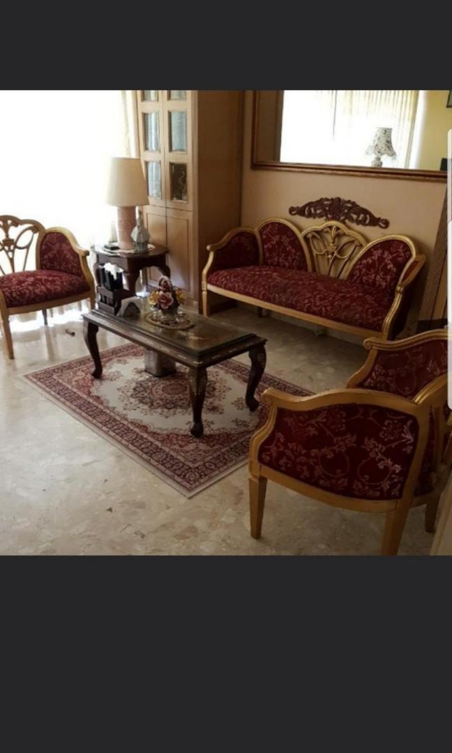 Italian sofa set, Furniture, Home Decor, Others on Carousell