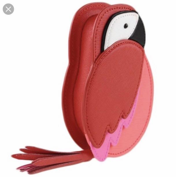 6bf3a31f53be Kate Spade Talk the Talk Parrot Coin Purse, Women's Fashion, Bags ...