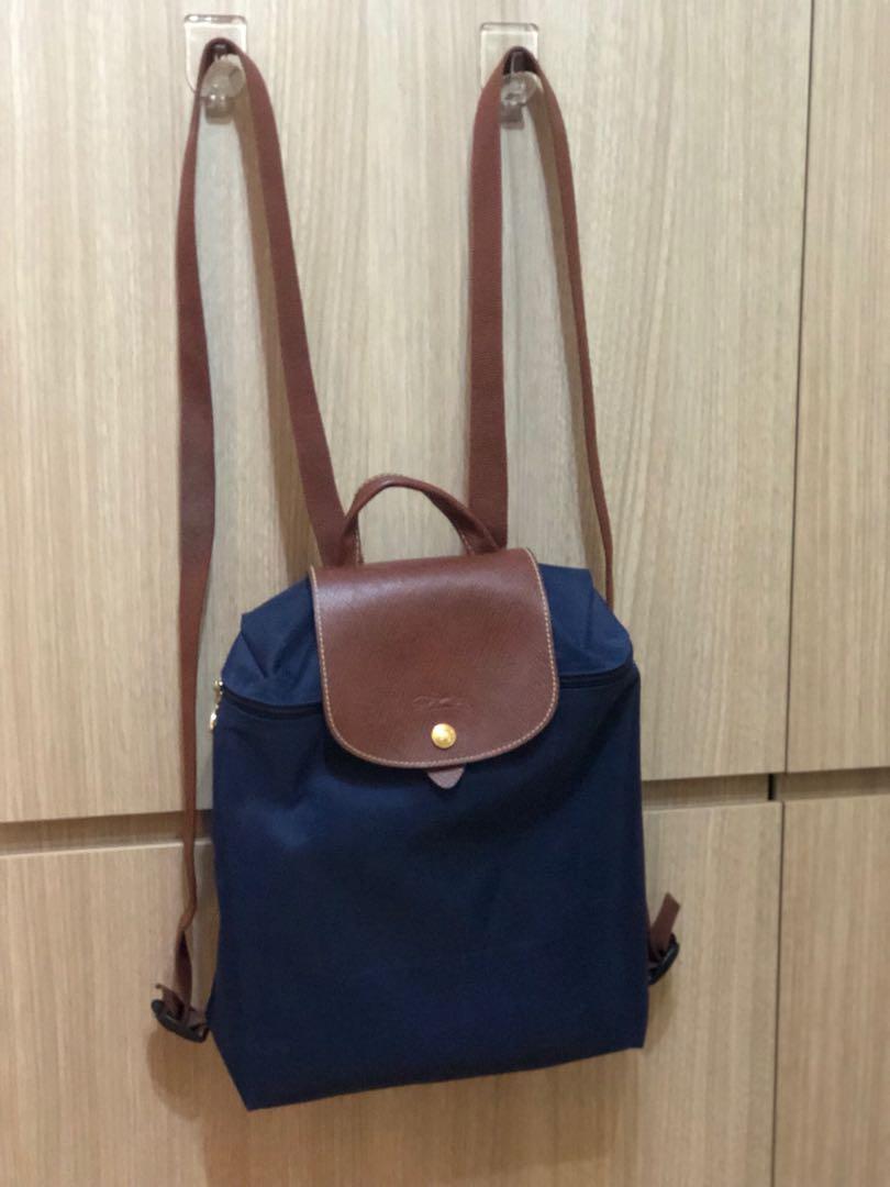 6e262c32089 Longchamp Le Pliage Backpack Navy, Women's Fashion, Bags & Wallets ...
