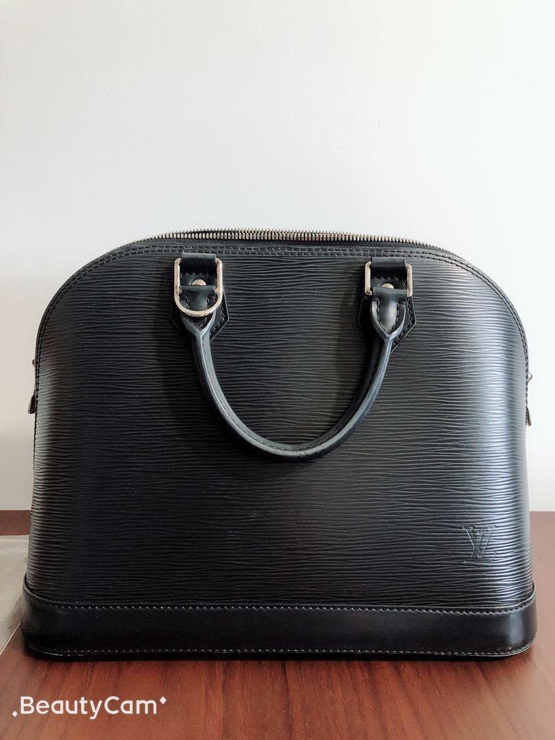 172c3633b1ba Louis Vuitton Alma PM Epi Leather Black M40302