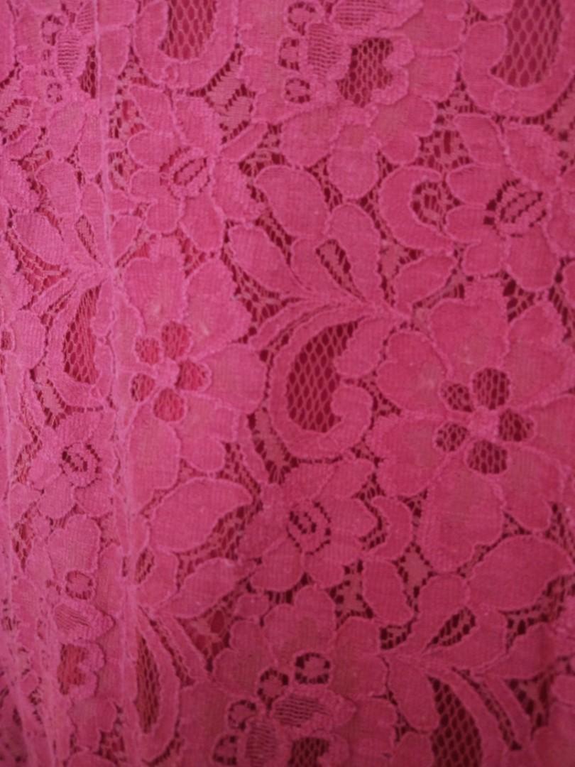 LOVE BONITO maroon floral cny dress