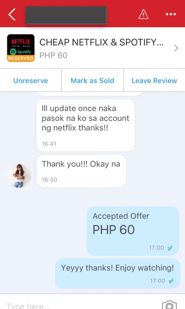 LOWEST PRICE GUARANTEED!!! NETFLIX AND SPOTIFY PREMIUM ACCOUNT