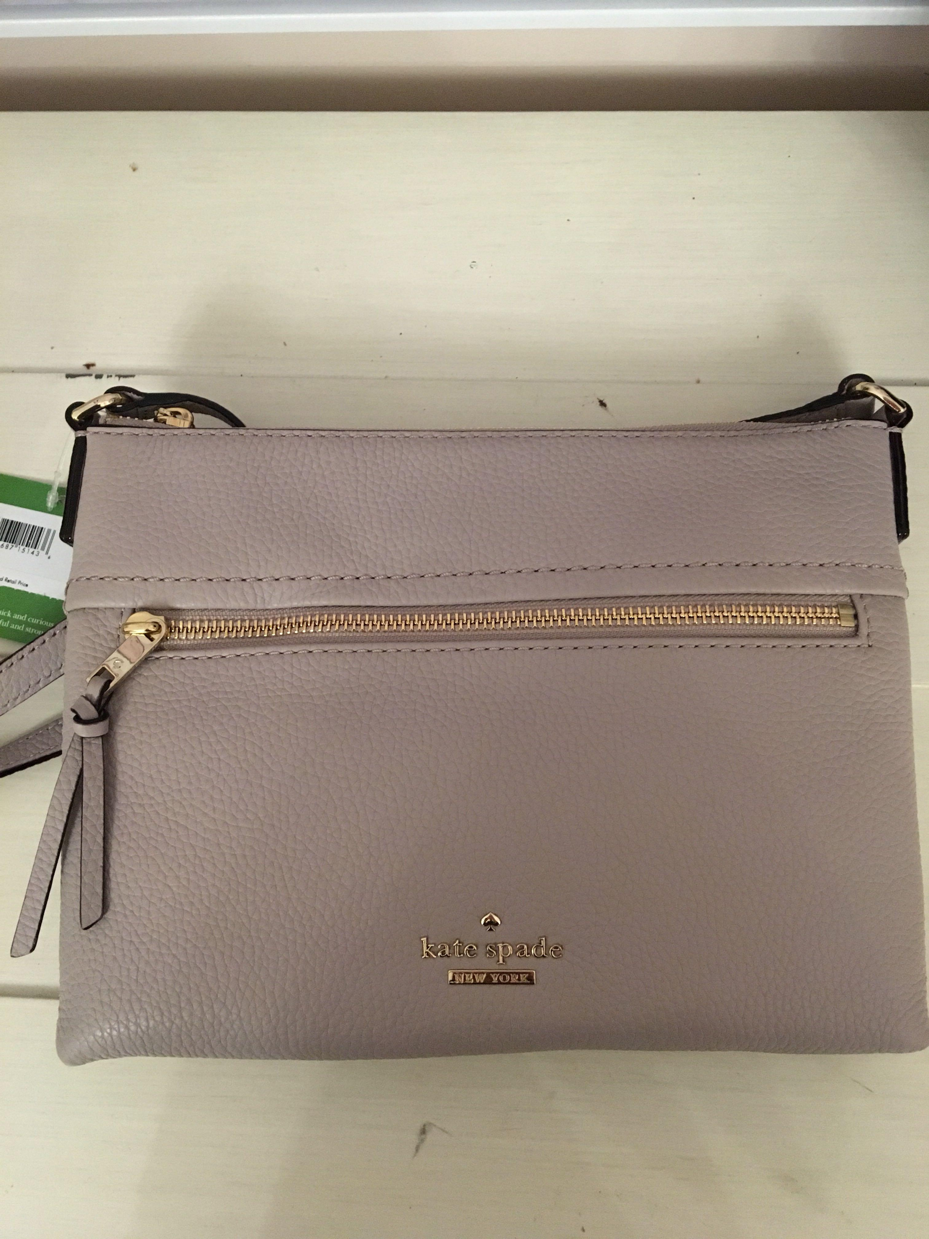 NEW Kate Spade Jackson Street Gabriele crossbody bag (bone grey)