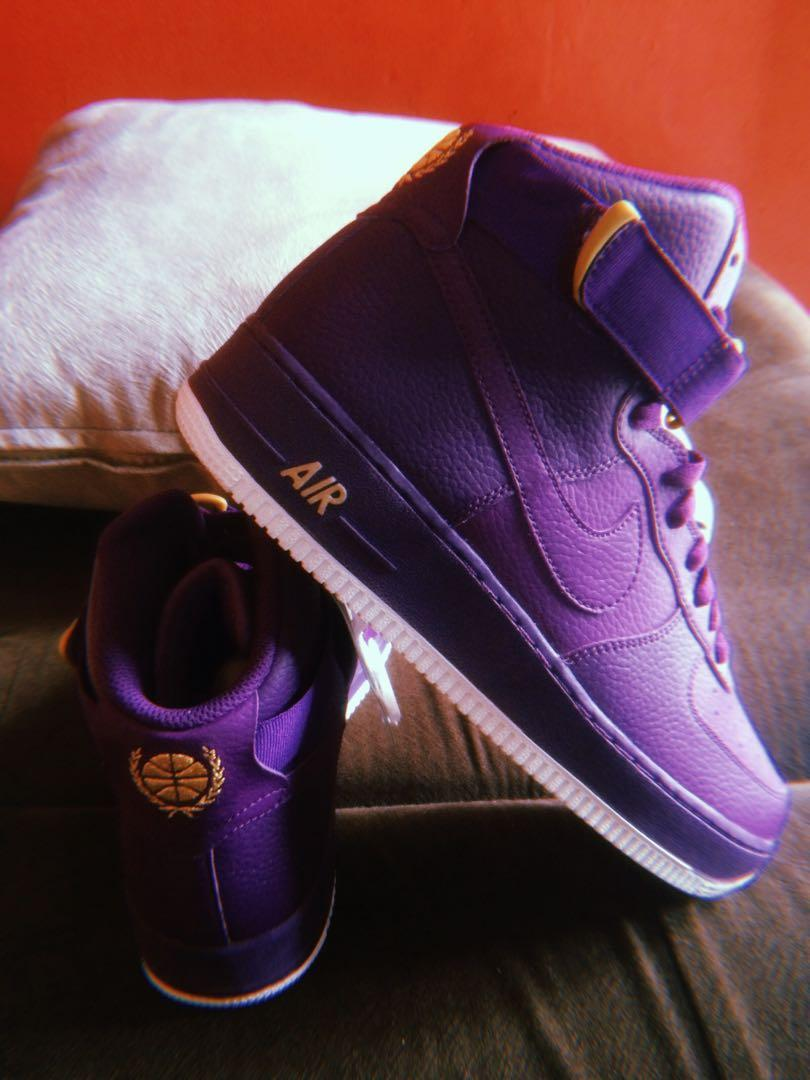 fresh styles newest collection outlet NIKE Air Force 1 High '07 Night Purple, Men's Fashion, Men's ...