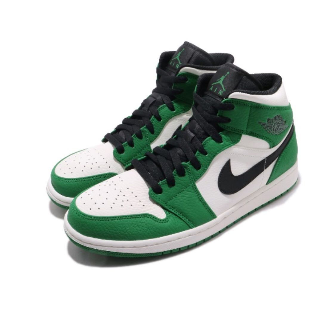 4754a0f05ad Nike Air Jordan 1 Mid SE GS Pine Green 女裝 US 5Y 6Y Boston Celtics chicago  bred black toe hi og, Women's Fashion, Women's Shoes on Carousell