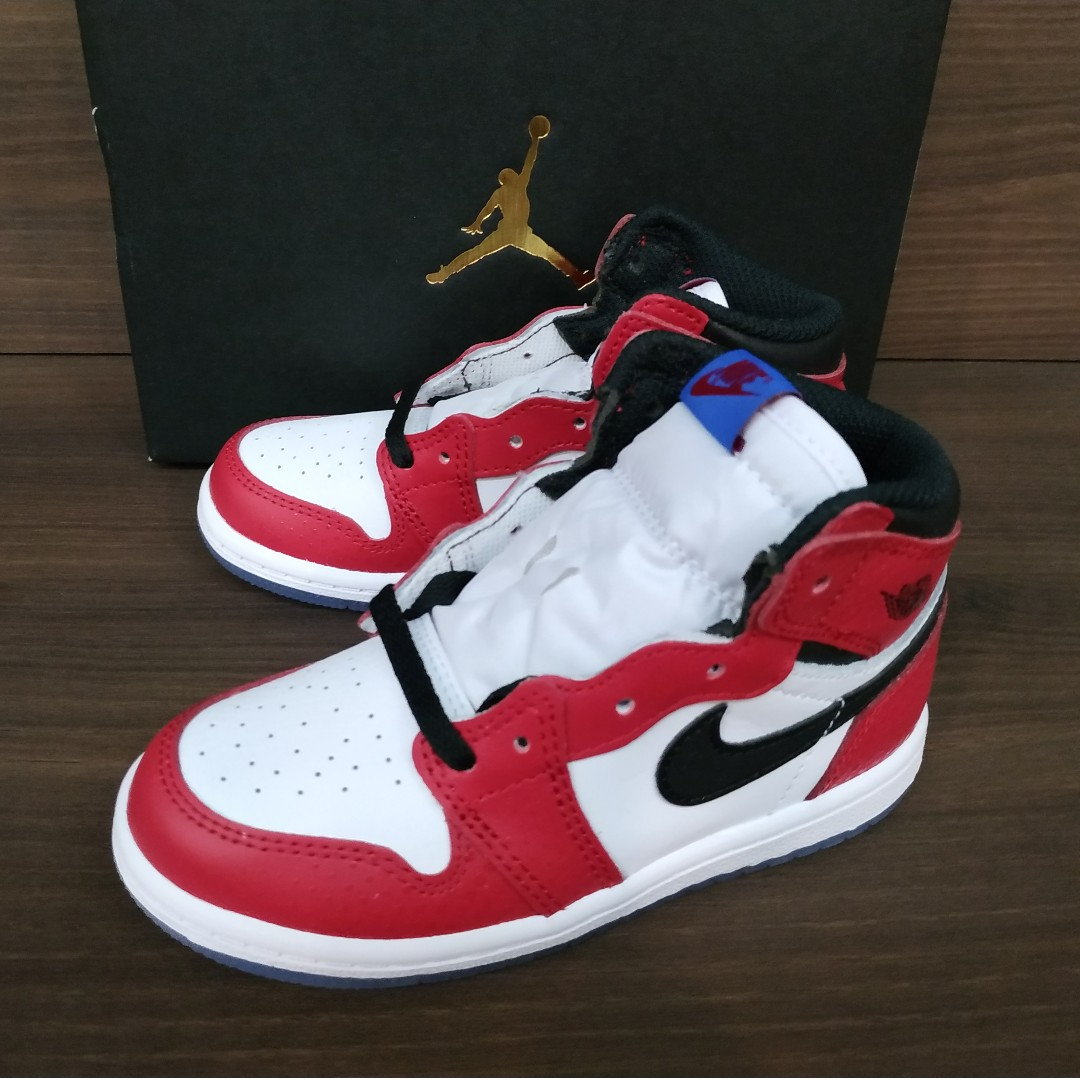 0024680ff50695 Nike Air Jordan 1 Retro High Spiderman Origin Story TD Toddler ...