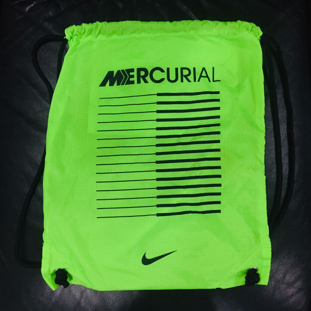 Nike Drawstring Bag (Mercurial Lime), Sports, Sports Apparel on ... 52b506ac86