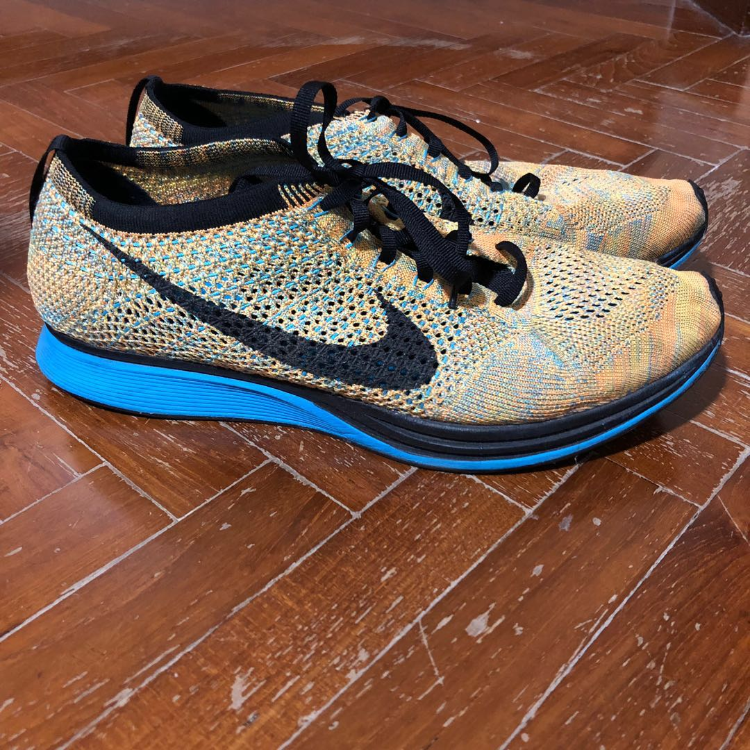 290ed65dfa86 Nike Flyknit Racer bright citrus blue Sorbet