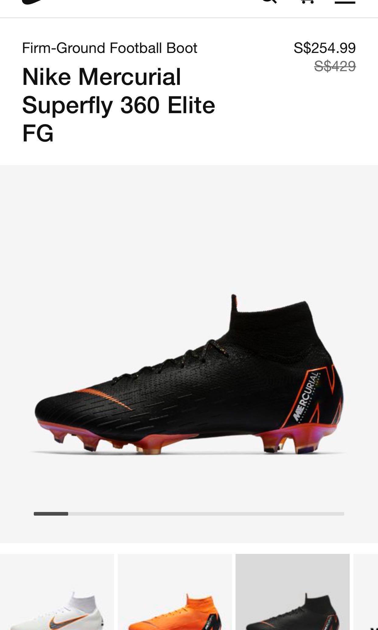 77215db9eaf26 Nike mercurial superfly 360 elite FG, Men's Fashion, Footwear, Boots ...