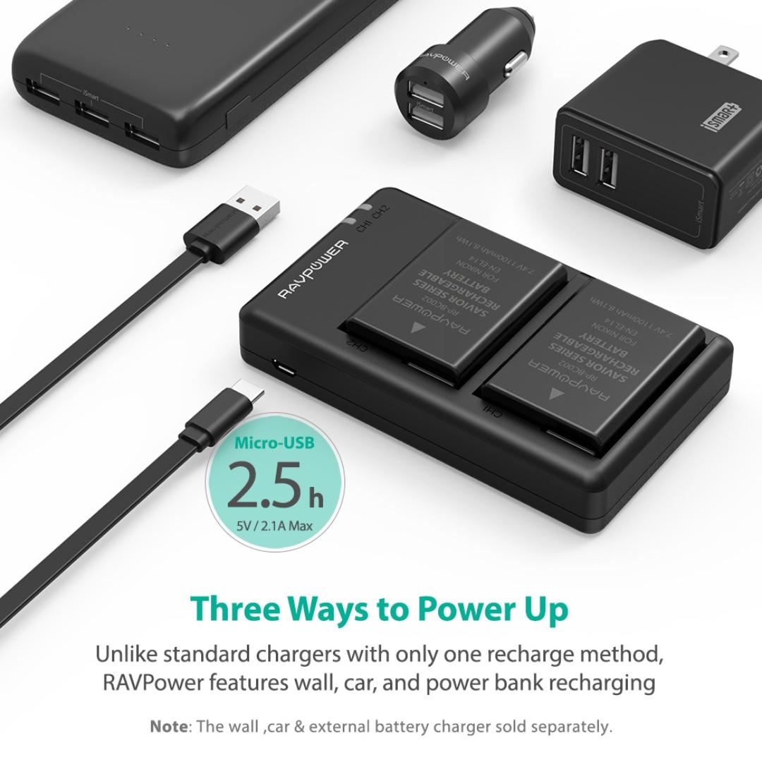 NIKON EL14(A) Battery & Charger Set by RAVPower RP - BC002