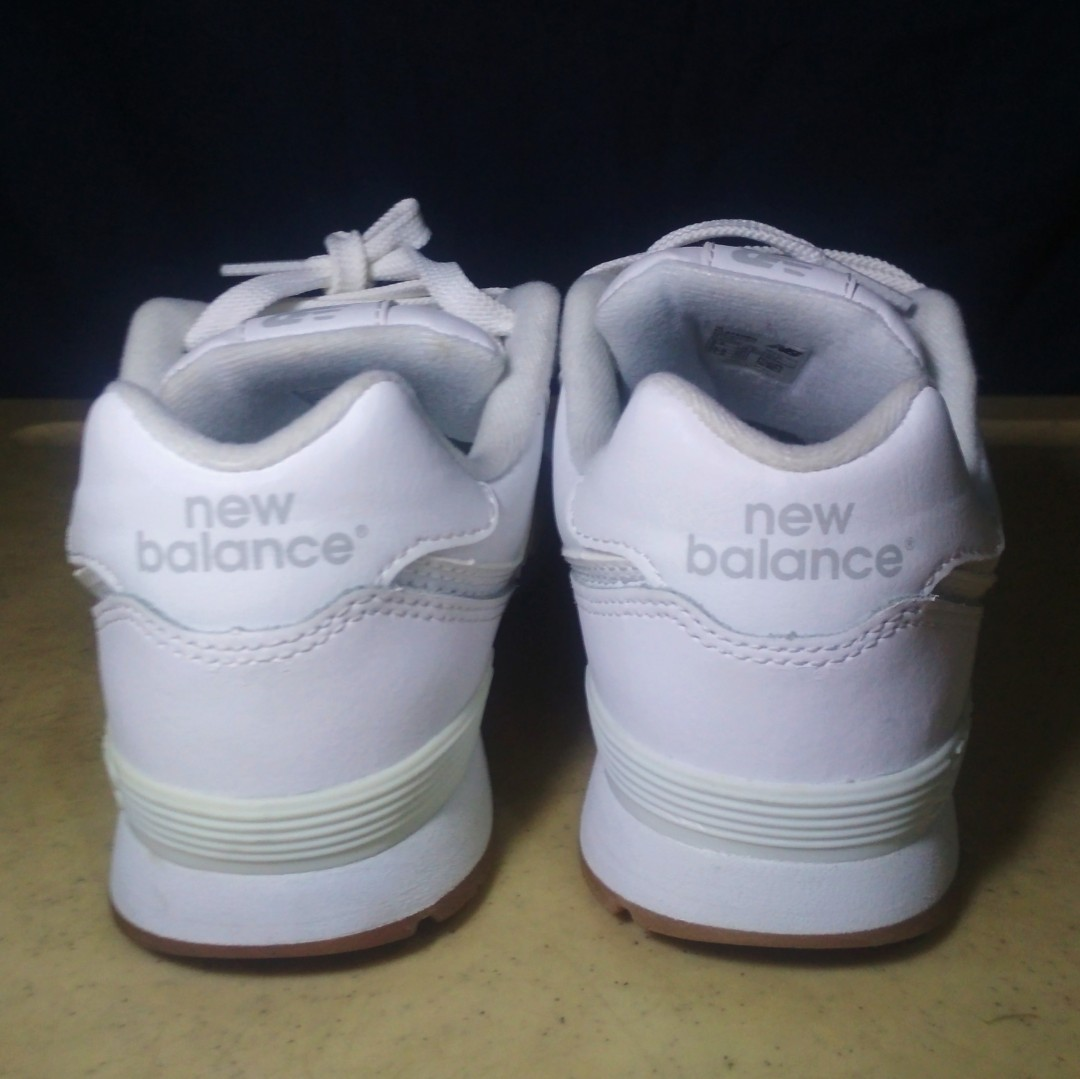 0c84fb39216e1 (Size 5) Original White New Balance 574 with gumsole, Women's Fashion,  Shoes on Carousell