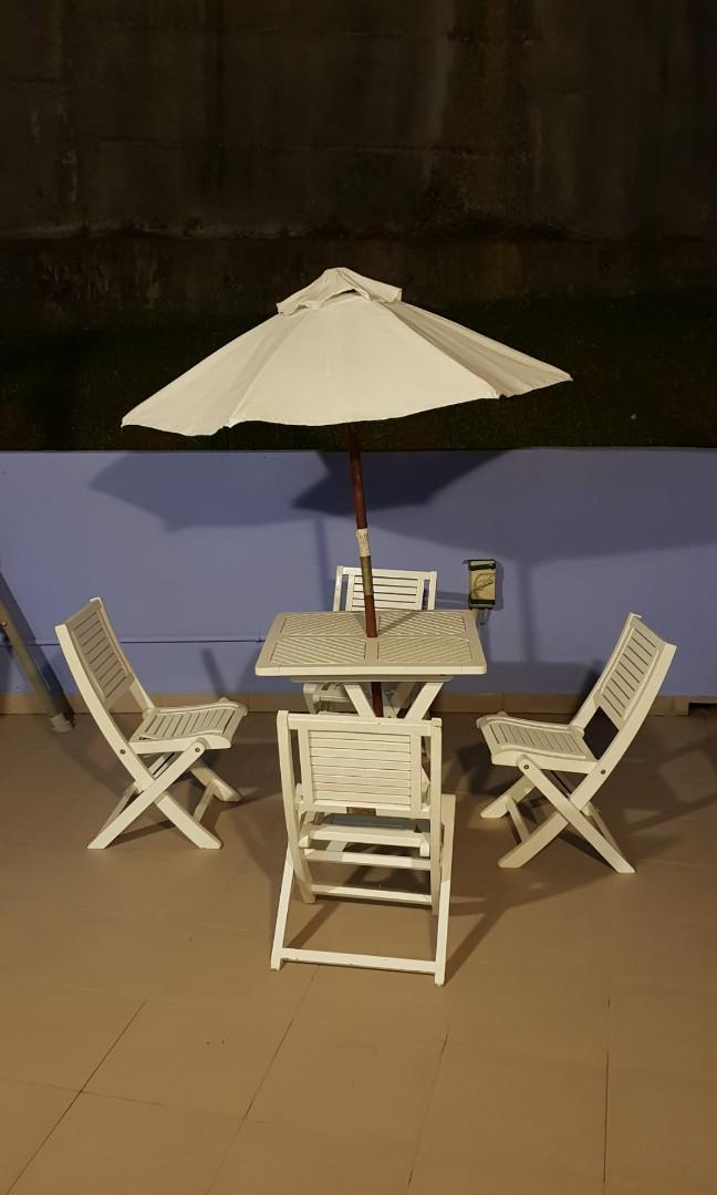Australia Outdoor Kids Table And Chairs With Parasol Furniture Tables Chairs On Carousell