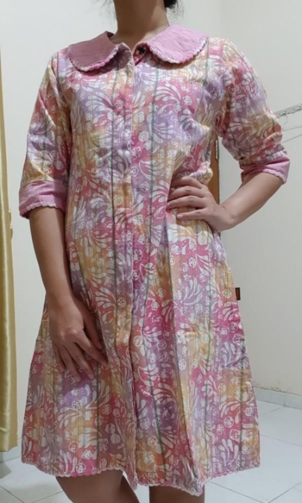 Prasaja by Rani Lurik Batik Colet Rainbow Midi Dress