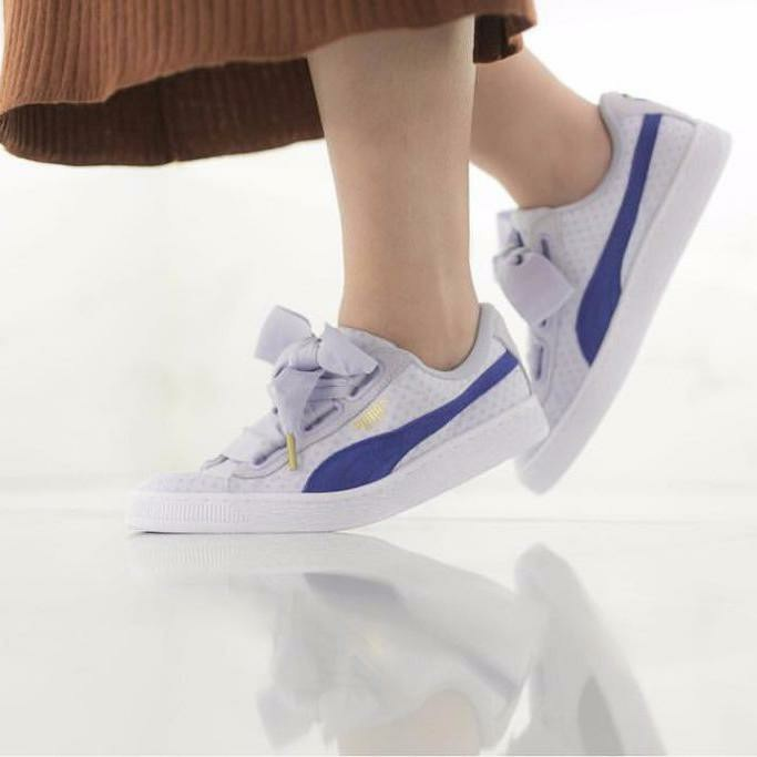 Puma Denim Blue Trainer Heart In Basket l1JFcK