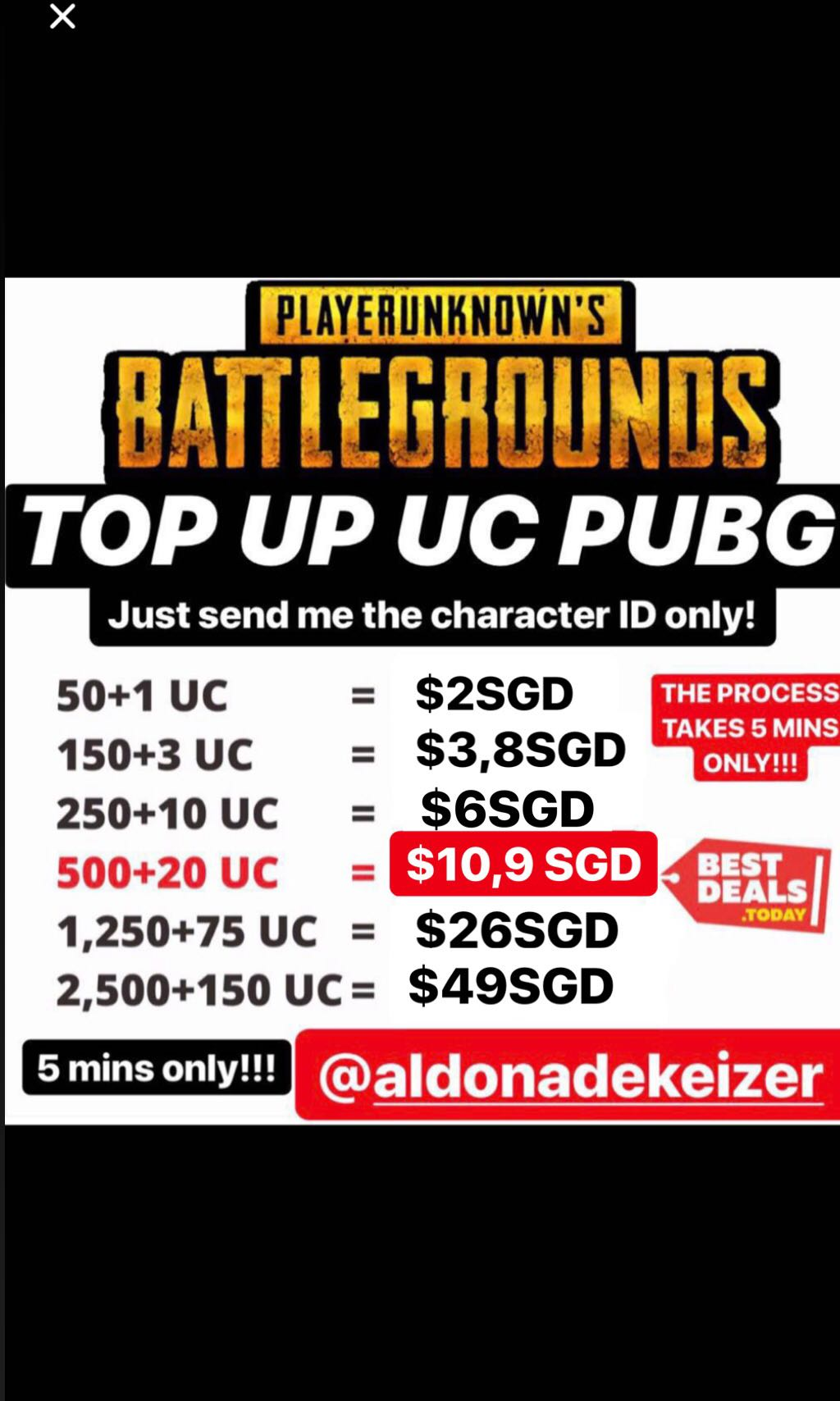 SELL PUBG UC TRUSTED AND CHEAPER, Toys & Games, Video Gaming, Video