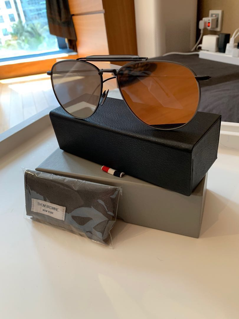 f537b599e2f9 Thom Brown Limited Edition Aviator TB-015-LTD-BLK-GRY-62