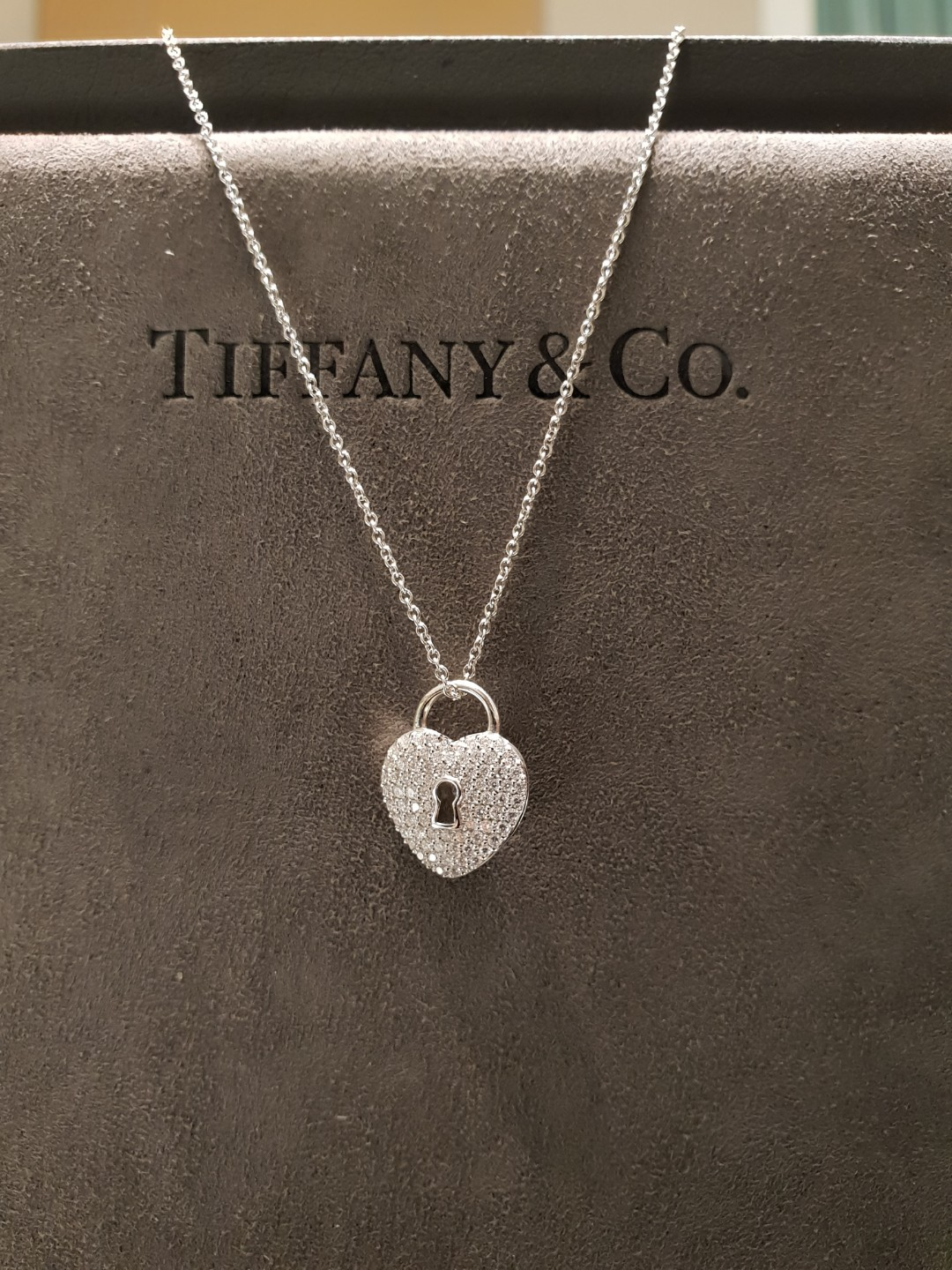 79592be16 Tiffany & Co Platinum Diamond Heart necklace, Women's Fashion ...