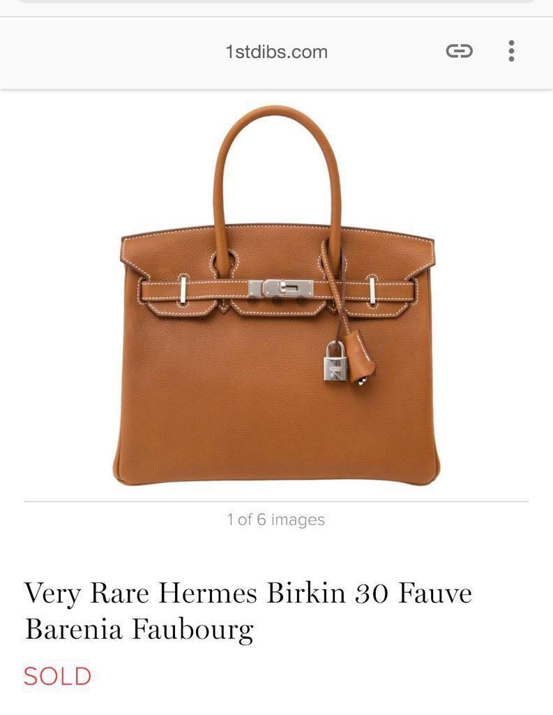 ac64602c92 Very Rare NEW Hermes Birkin 30 Barenia Fauve Faubourg GHW (A ...