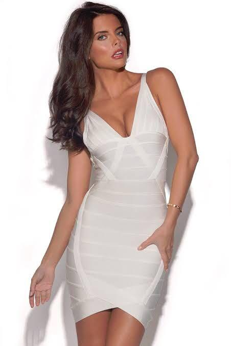 White bandage dress