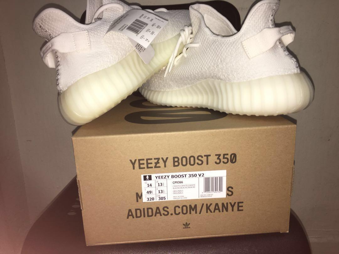 purchase cheap 220a2 aa2cd WTS/WTT Yeezy Boost 350 V2 Cream White(Rare size) US 14 ...