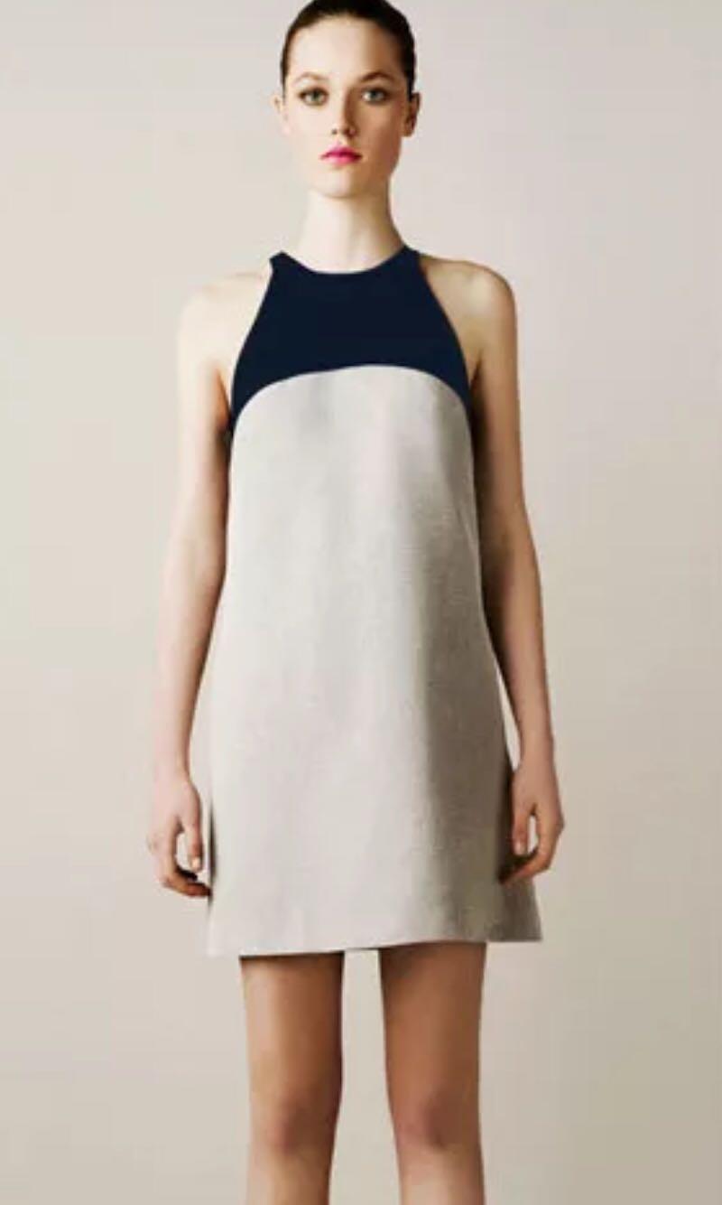 f0dfb17c77cf3 Zara colorblock sleeveless dress
