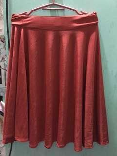 Scarlet skater skirt (long)
