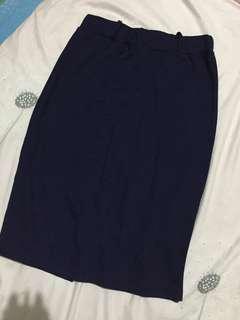 Navy blue pencil skirt