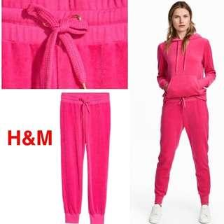 #onlinesale H&M PINK Velour Jogger