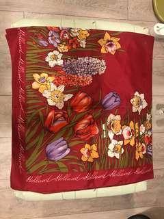 歐風花朵復古大領巾