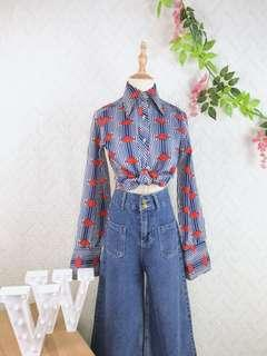 🚚 🍿 Vintage Blouse VB2125