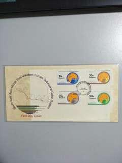 Singapore FDC Submarine Cable 1986