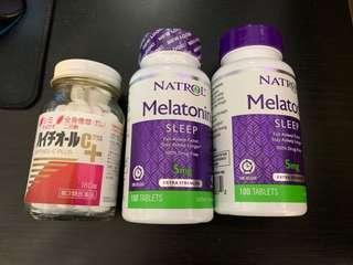 🚚 失眠救星 褪黑激素 沒人知道嗎 兩瓶+旁邊不知道什麼東東 一起賣360含運費