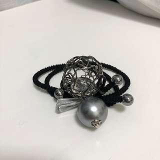 100% new 全新 韓國 橡筋圈 頭飾 髮圈 珍珠