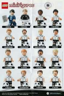 全新開袋確認 Lego 71014  德國國家足球隊 Series 人仔 1套 16款  , 有蛋紙 和 蛋袋 , 齊底板 配件