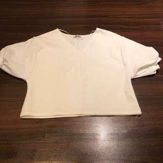 Zara White Puffer Sleeves