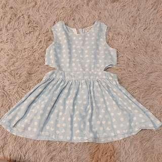 Cut waist dress