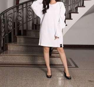 Bkk dress white tebal