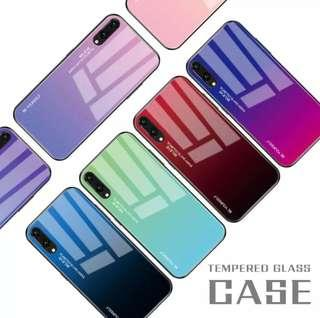 (PO) Gradient Tempered Glass Case For Huawei Honor 8X Nova 3