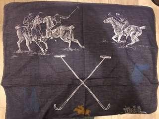 英倫紳士馬球丹寧領巾