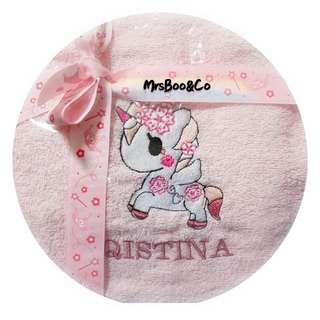 Customise embroidery bath towel
