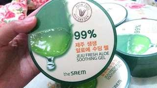 (Limited, free ongkir) The Saem - 99% jeju fresh aloe soothing gel (kirim langsung dari korea)